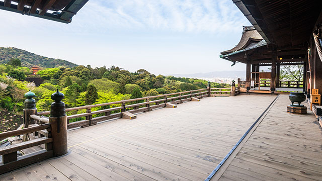清水寺 本堂の舞台(京都)