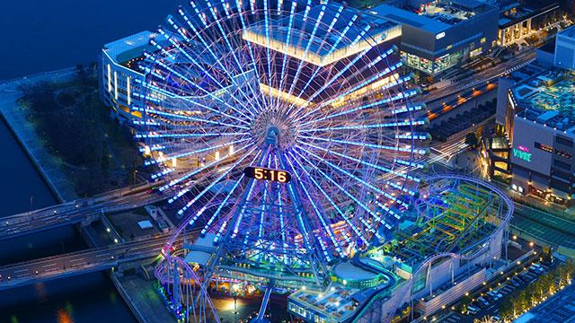 横浜コスモワールドの夜景(みなとみらい)