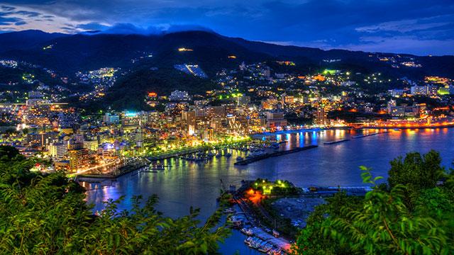 熱海城からの夜景(熱海)