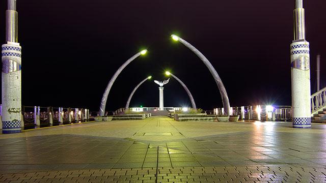 夜の熱海親水公園(熱海)
