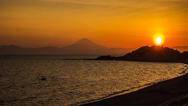 長者ヶ崎の夕日