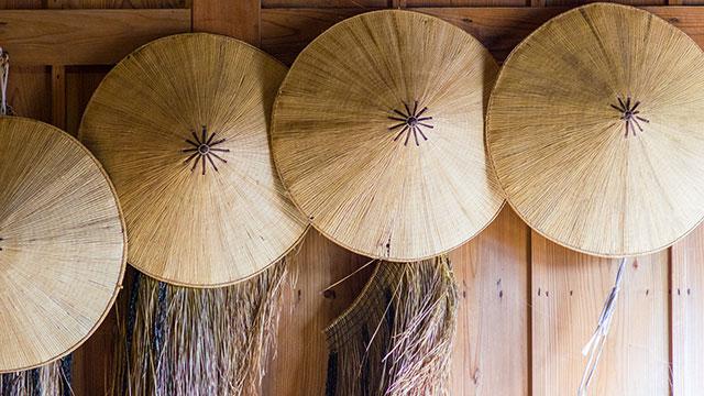 傘と蓑(箱根関所)