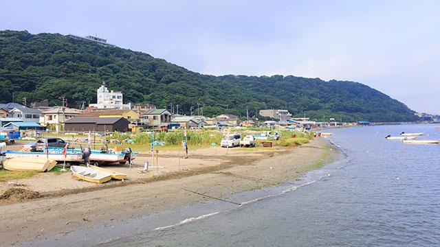 走水海岸の夏(走水海岸)