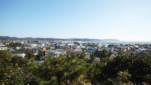 見晴台からの眺望(鎌倉長谷寺)