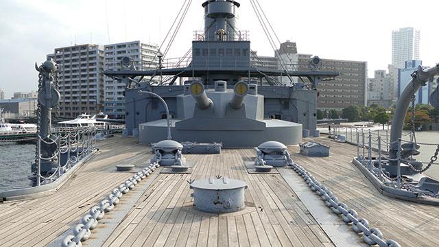 前甲板(記念館三笠)