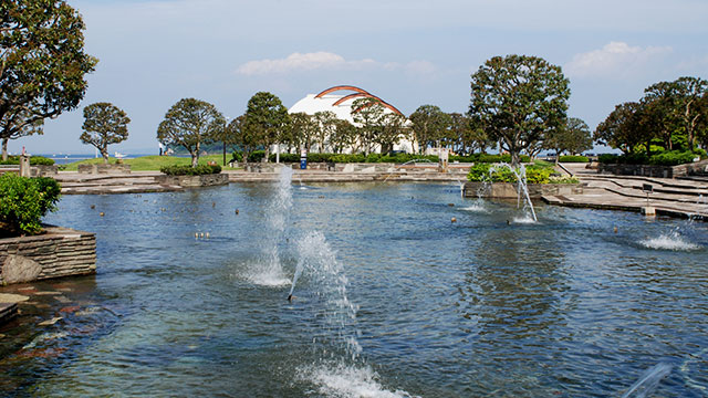 音楽噴水池(三笠公園)