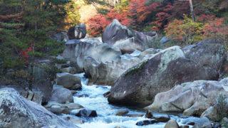 山梨 昇仙峡渓谷が作り出す奇石と紅葉の絶景スポット