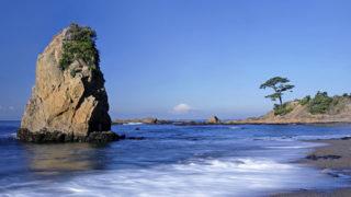 横須賀 秋谷・立石公園自然のままの海岸線が残る富士山のビュースポット