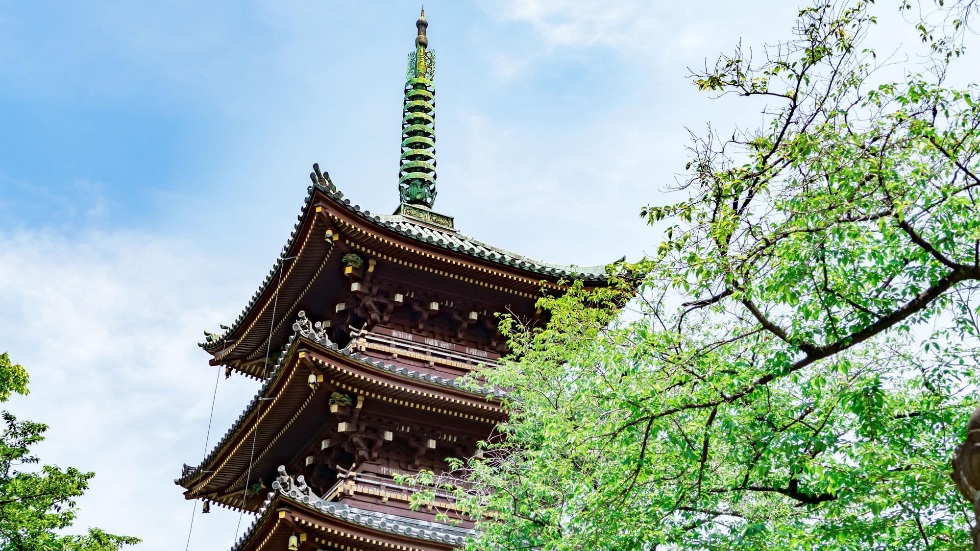 旧寛永寺五重塔(上野公園)