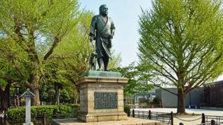 上野 西郷隆盛像愛犬を従えた銅像は上野のシンボル