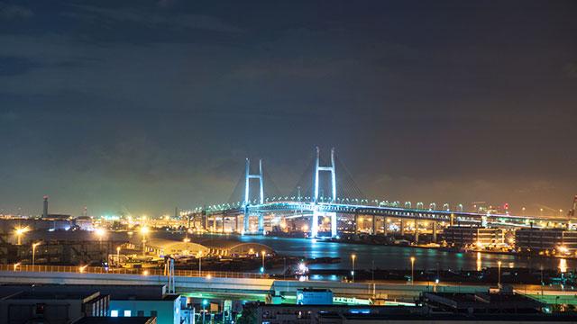 公園から見える夜景(港の見える丘公園)