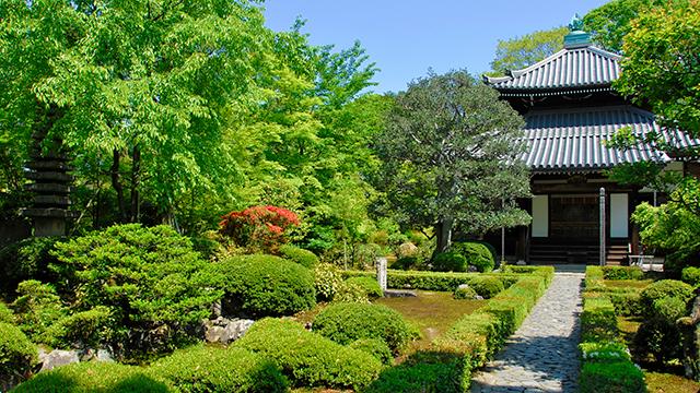本堂と庭園(安楽寺)