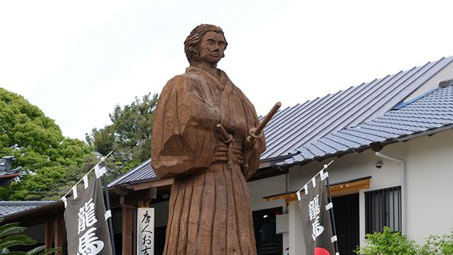 坂本龍馬の木像(宝福寺)