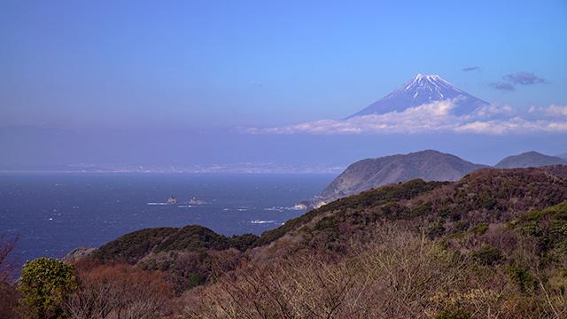 石部棚田から望む富士山(石部棚田)