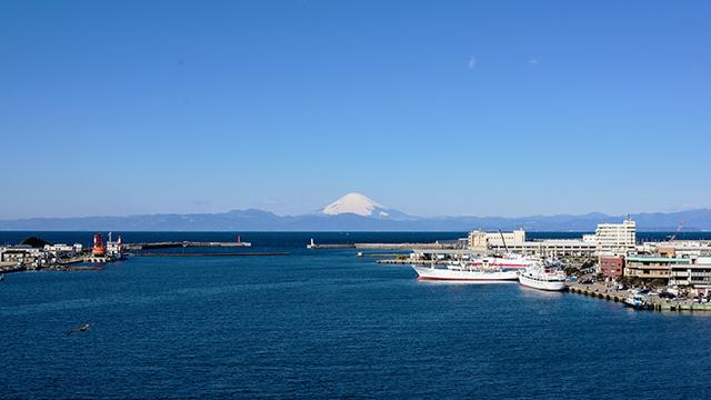 富士山を望む(城ヶ島大橋)