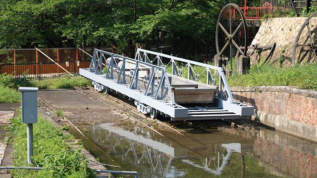 貨物用ケーブルカーの台車(蹴上インクライン)