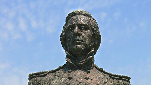 ペリー提督の胸像(ペリー艦隊来航記念碑)