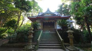 戸田 諸口神社御浜岬の先端に建つ海上守護の神社