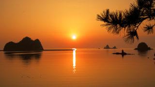 大田子海岸奇岩と夕日が作り出す絶景を楽しむ