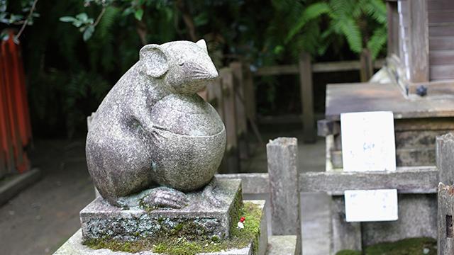 狛ねずみ(大豊神社)