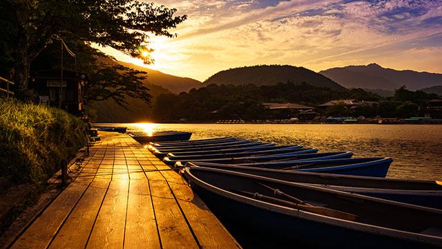 嵐山公園の夕暮れ(嵐山公園)