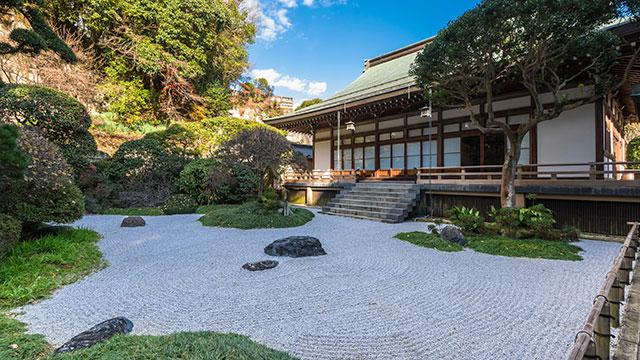 枯山水庭園(報国寺)
