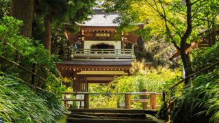北鎌倉 浄智寺中国式鐘楼門が珍しい鎌倉五山第四位の寺