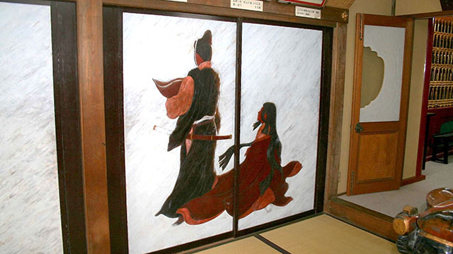 鎌倉彫の襖絵(鎌倉 満福寺)