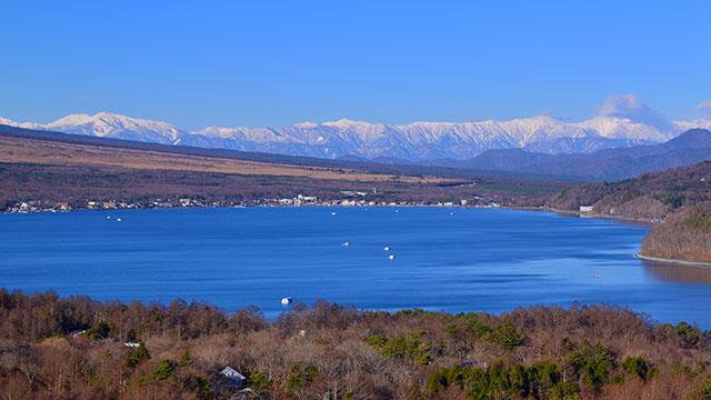 南アルプスを望む(山中湖パノラマ台)
