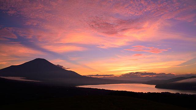夕景(山中湖パノラマ台)