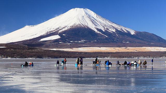 ワカサギ釣り(山中湖)