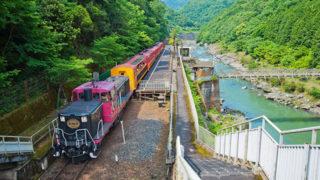 京都 嵯峨野トロッコ列車保津川沿いの絶景をのんびり楽しむ