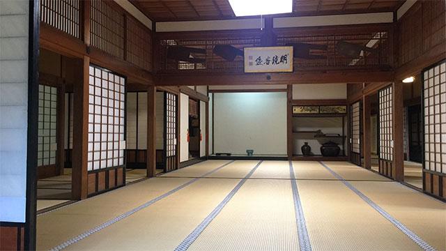 書院室内(清見寺)