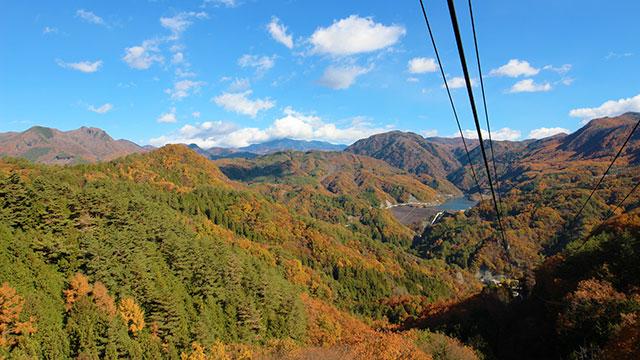 ロープウェイからの眺望(昇仙峡ロープウェイ)