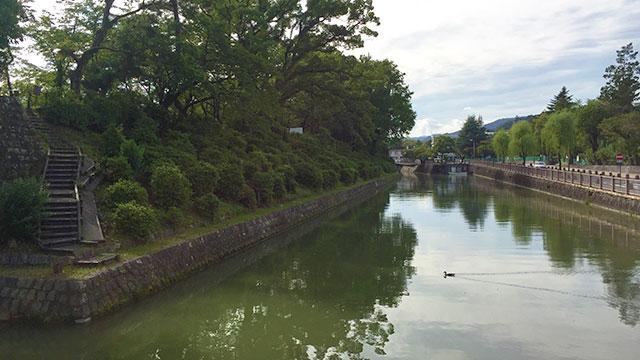 中堀(駿府城公園)