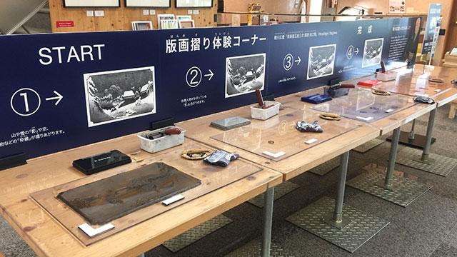 体験コーナー(東海道広重美術館)