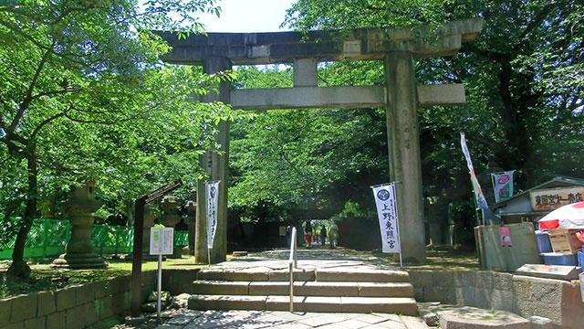 大石鳥居(上野東照宮)