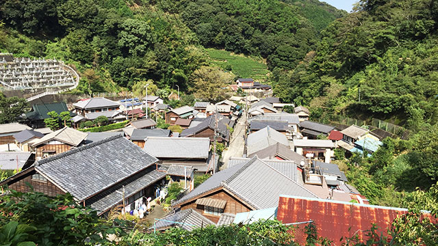 展望台からの眺め(宇津ノ谷)
