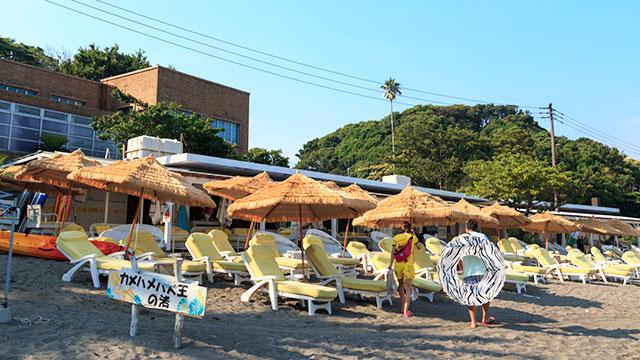 海の家(逗子海水浴場)