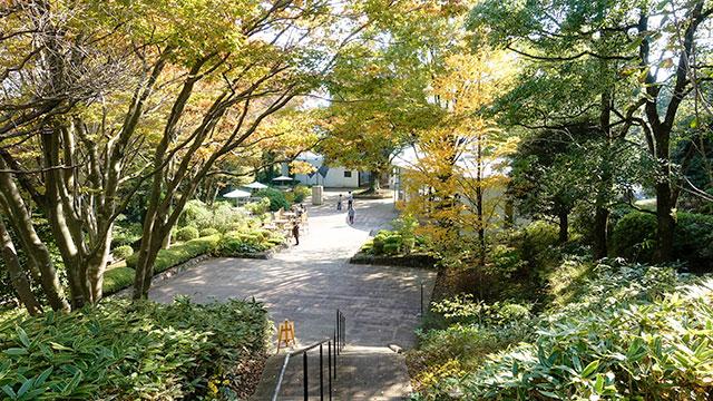 井上靖文学館からベルナール・ビュッフェ美術館を望む(クレマチスの丘)