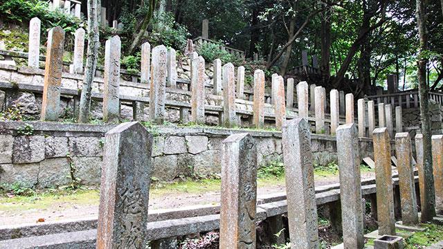 長州藩士の墓(京都霊山護国神社)