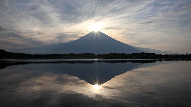 ダイヤモンド富士(田貫湖)