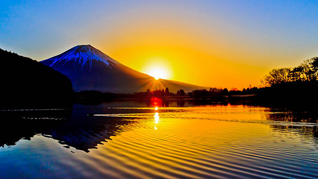 朝焼け(田貫湖)