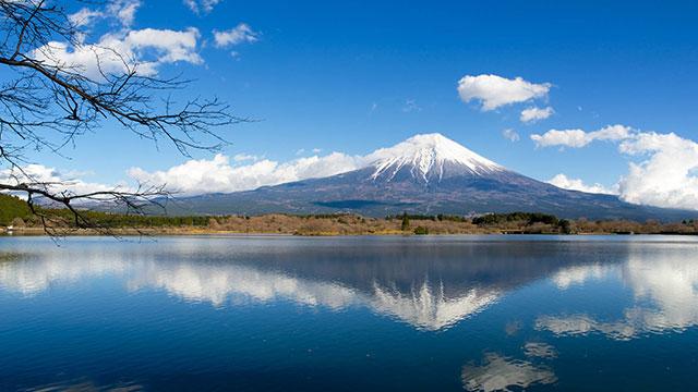 逆さ富士(田貫湖)