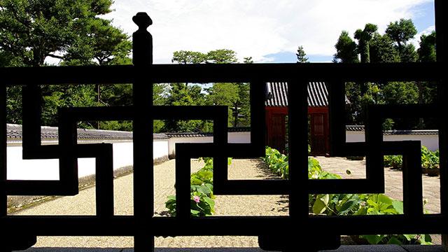 開山堂の勾欄(萬福寺)