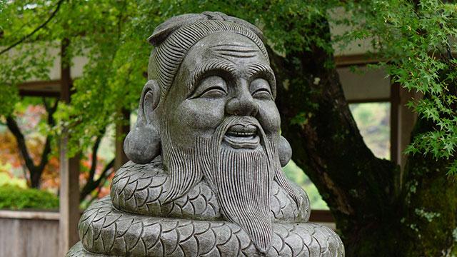 宇賀神の像(三室戸寺)