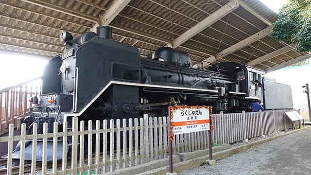 蒸気機関車の静態保存(楽寿園)