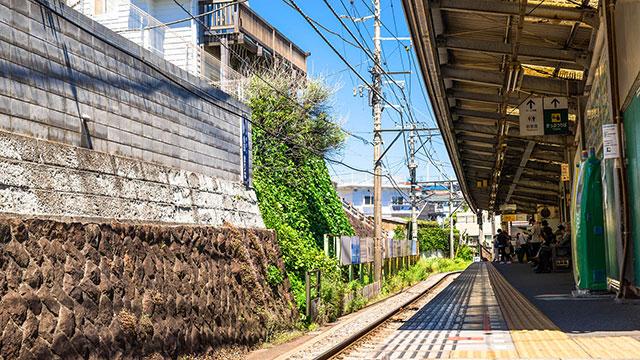 江ノ電 七里ヶ浜駅(江ノ電観光)