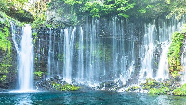 滝壺(白糸の滝)