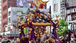 浅草 三社祭三基のお神輿が町を練り歩く東京を代表するお祭り